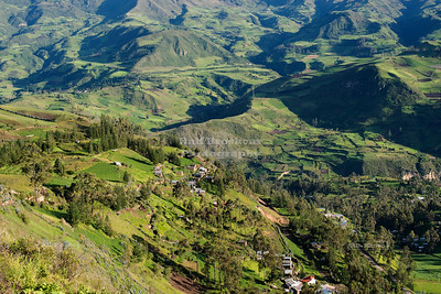 Scenic mountain landscape in Ecuador