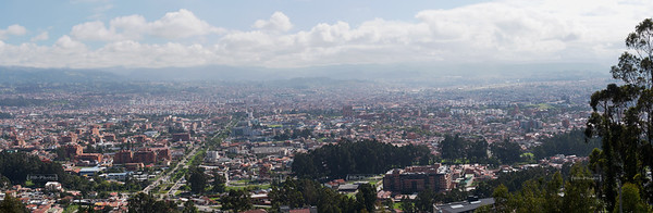 Panoramic view over Cuenca