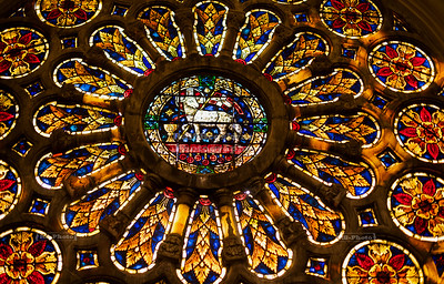 Rose window of the New Cathedral in Cuenca