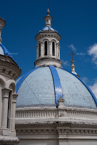 Blue Cupolas of the New Cathedral in Cuenca