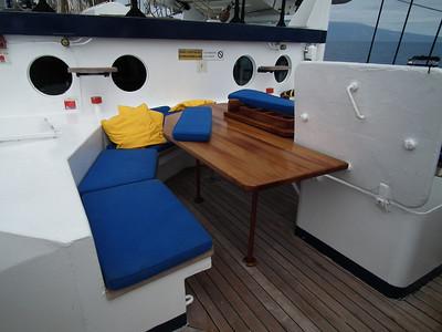 The forward deck
