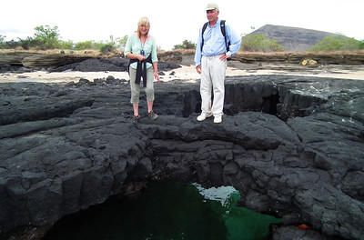 A lava tunnel that met the ocean creating a bridge Janice was that scared