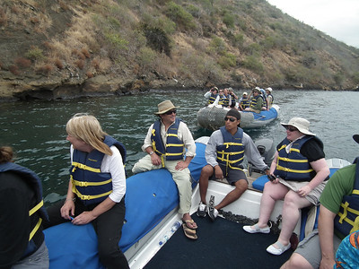 When everyone went ashore we used two dingies