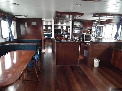 The inside dining quarters