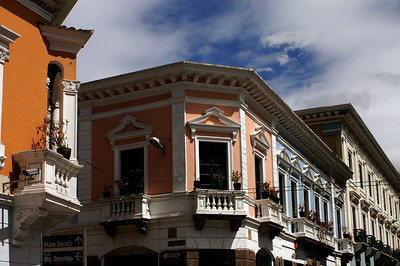 The colonial part of Quito