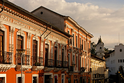 Colonial houses in Quito