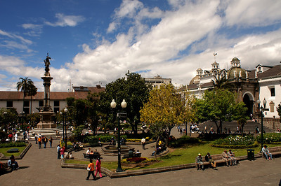 La Plaza de la Independencia en Quito