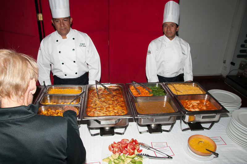 • Location - Quito, Ecuador<br /> • Our selection from this buffet lunch.
