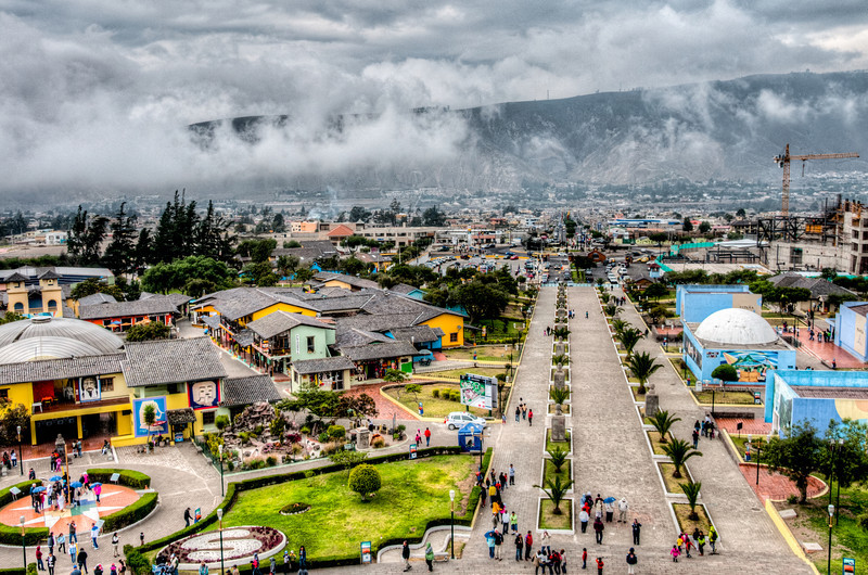• Location - Quito, Ecuador<br /> • View from the top of Equator Monument