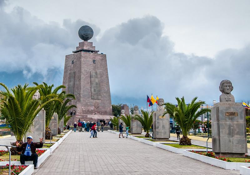 • Location - Quito, Ecuador<br /> • Walkway to the Equator Monument