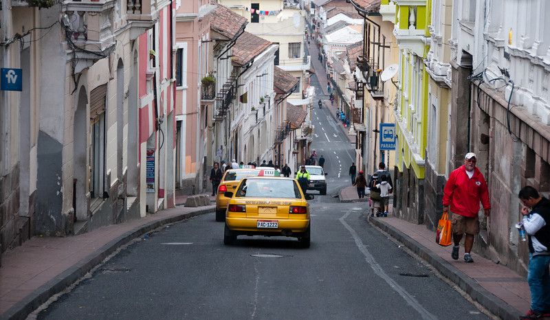 • Location - Quito, Ecuador<br /> • An abundance of hills and narrow roads in Quito
