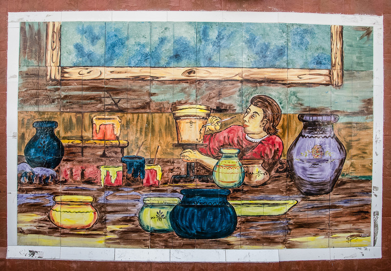 • Location - Quito, Ecuador<br /> • Ceramic tile artistry we saw at the Open Market Crafts