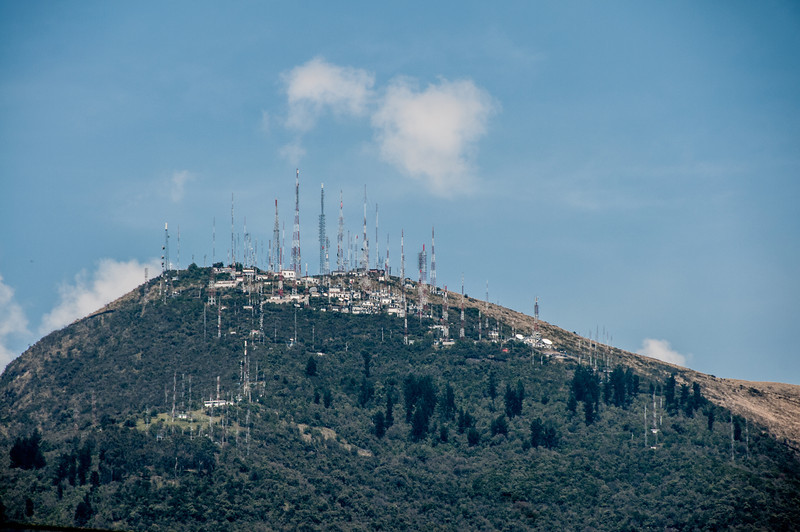 • Location - Quito, Ecuador<br /> • Lots of antennas on the top of this mountain