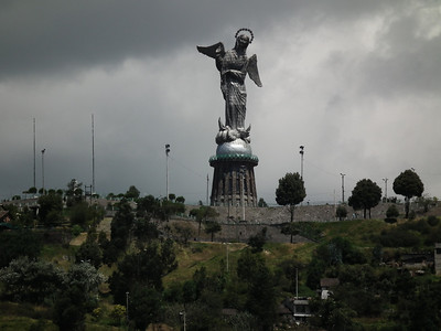 The angel on top of the hill is is much like the statue in Rio de Janeiro.