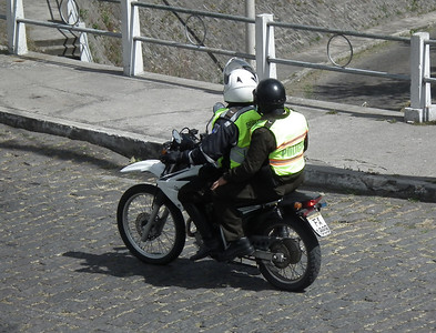 The Metropolitan police are often on motorcycles.