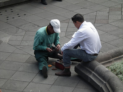 Shoes and shoe shining are big in Ecuador.