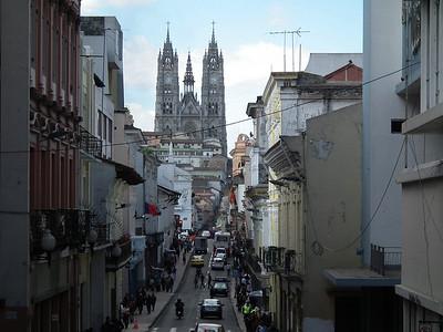 The huge Basilica at the end of Venezuela Street.
