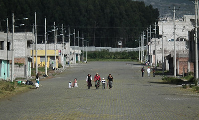 Just on the outside of Quito, there are many districts of extremely poor housing. This was shot from the train.