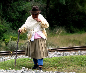 One of the local women from around Boliche station.