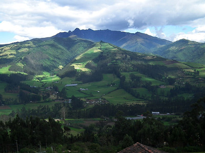 One of the volcanoes along the route. Notice the fantastic landscape with beautiful trees and lush mountain sides.