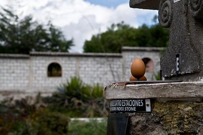 easier to balance an egg at the equator?