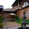 Courtyard at the hacienda