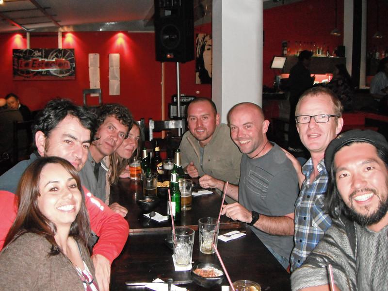 Karla, Raul, Mark. Claire, Daniel, Adam. Uwe, Yoshi (Saburo) in Quito