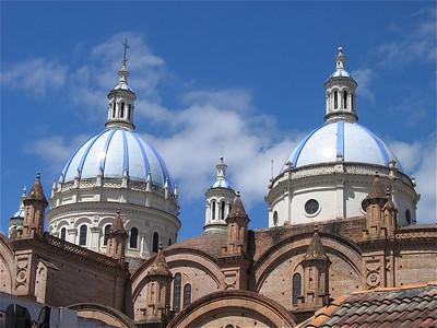 La catedral de Santa María y San Julián de Cuenca. Ecuador.
