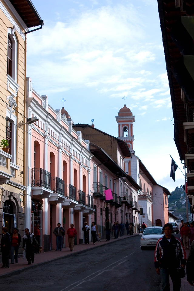 The streets of Quito, Ecuador
