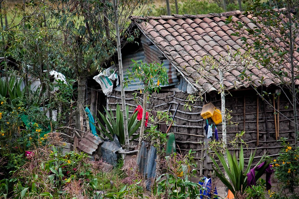 Mud house outside Cotacachi
