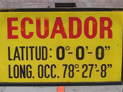 Op de evenaar. Quito, Ecuador.