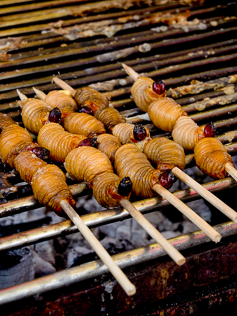 Chontacuro are edible larvae from the Amazon and just one of many Ecuadorian foods to eat. Here's the ultimate list of what food to eat in Ecuador.