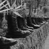 Boots of battle; Museo Histórico Militar in Girón