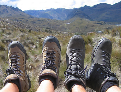 Walking shoes. Parque Nacional Cajas, Ecuador.