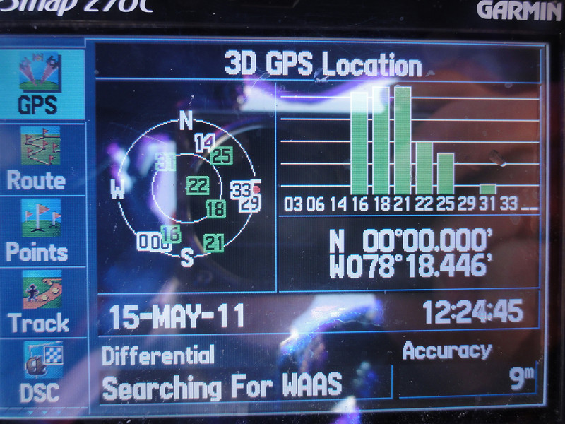 Equator GPS reading