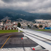 Quito airport, in the middle of the city