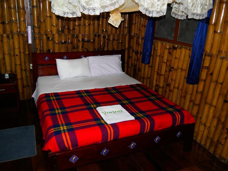 Ecuador/Galapagos Islands OAT Trip, May 2015.<br /> 07 May 2015, inside my hut at Yarina Lodge.