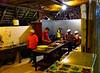 Ecuador/Galapagos Islands OAT Trip, May 2015.<br /> 07 May 2015.  Yarina Lodge.  Staff preparing evening meal.