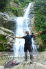 Amazon Waterfall East of Zamora after traveling with my taxi driver guide from Vilcabamba through Loja then hiking an hour up a jungle mountain trail at an approximate 45 degree angle...9-13-14.