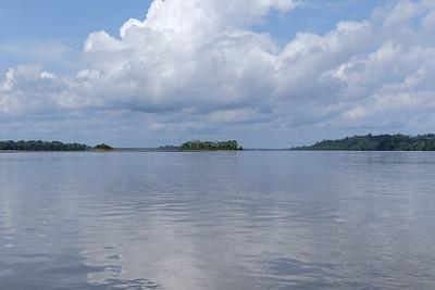 Crossing the Napo River.