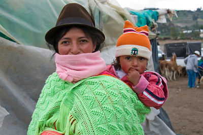 "Mother andchild at ""Sasquilli Market"""