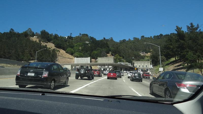 Going thru Caldecot tunnel & past Mt Diablo