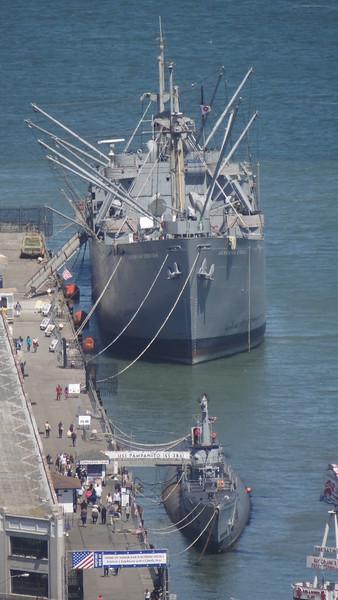WW2 Battle ship & Submarine.
