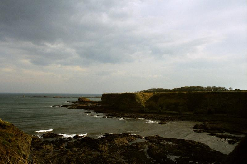 View of the coast from Tantallon Castle.