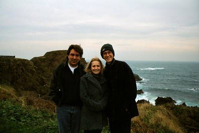 It was cold and windy at Tantallon.