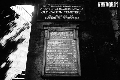 Edinburgh 2018 - Old Calton Cemetery & Calton Hill