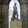 Edinburgh, Scotland - Dr. Livingstone, Bible in hand, leading the way to Africa -