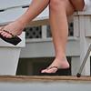 the ladies wore sandals