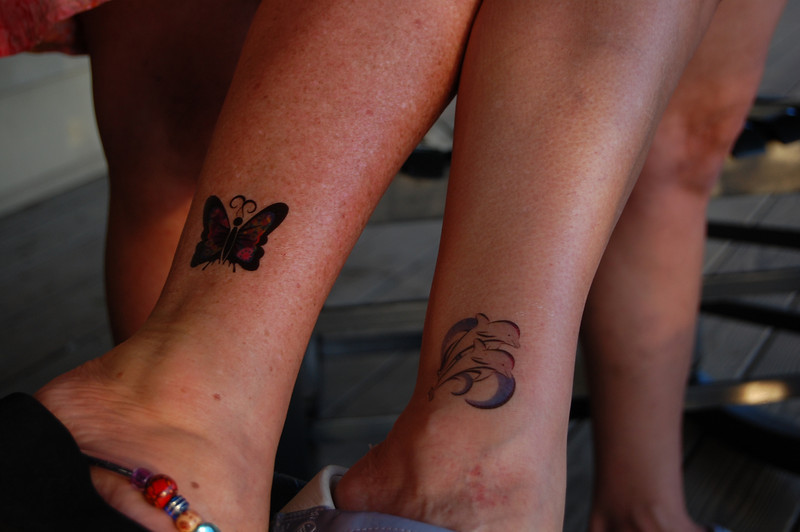 the girls got some tattoos