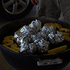 the 2nd night we grilled up some fresh Pineapple, and MJ made Vidalia onions (in the foil)